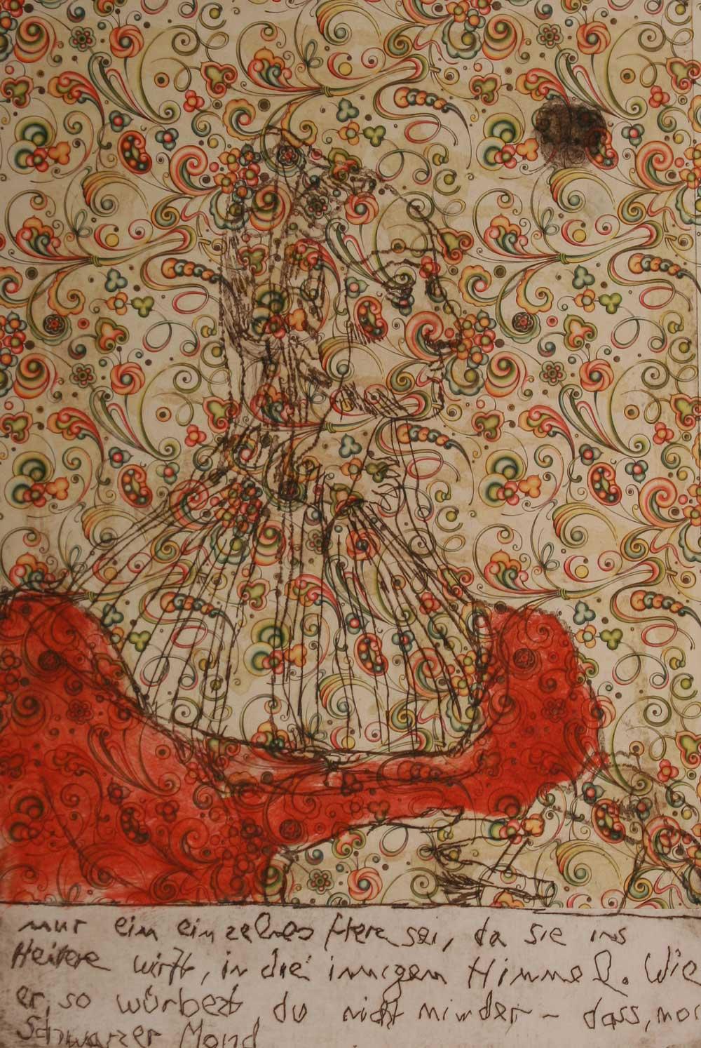 "Jutta Nase: ""o.T."", 2011, Mischtechnik auf Büttenpapier, 39 x 27 cm (Blattgröße)"