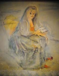 """""""Die Malerin Dorothea Therbusch"""", 75 x 50 cm, Mischtechnik auf Nessel, 2003"""