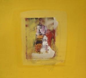 """""""Gelbe Serie"""" (3), 30 x 32 cm, Mischtechnik auf Buchbinderkarton, 1999"""