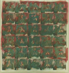 """""""Am anderen Morgen 1954/1997"""", 180 x 175 cm, Mischtechnik auf Zeichenkarton, 1997"""