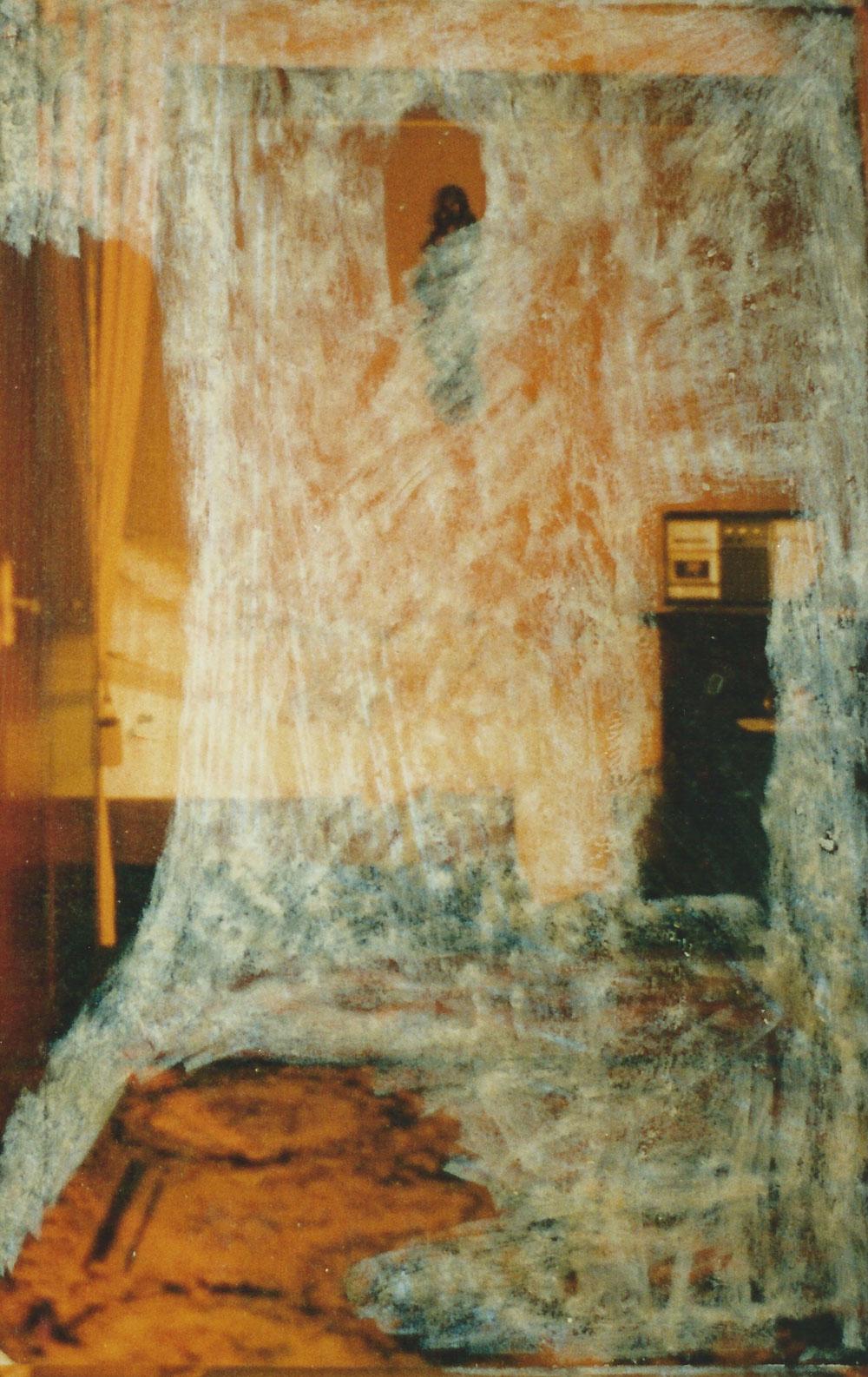 """Ausschnitt aus dem Bild """"Bett 1983/1996"""""""