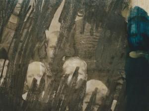 """Ausschnitt aus dem Bild """"Blaue Flecken 1909/1997"""""""