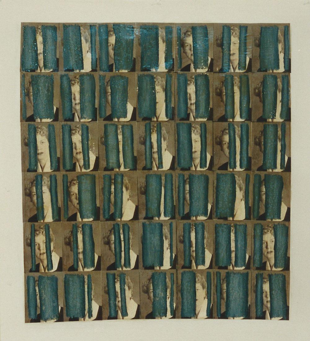 """""""Blicke 1949/1997"""", 160 x 150 cm, Mischtechnik auf Zeichenkarton, 1997"""