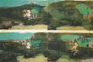 """Ausschnitt aus dem Bild """"Grün 1952/1997"""""""