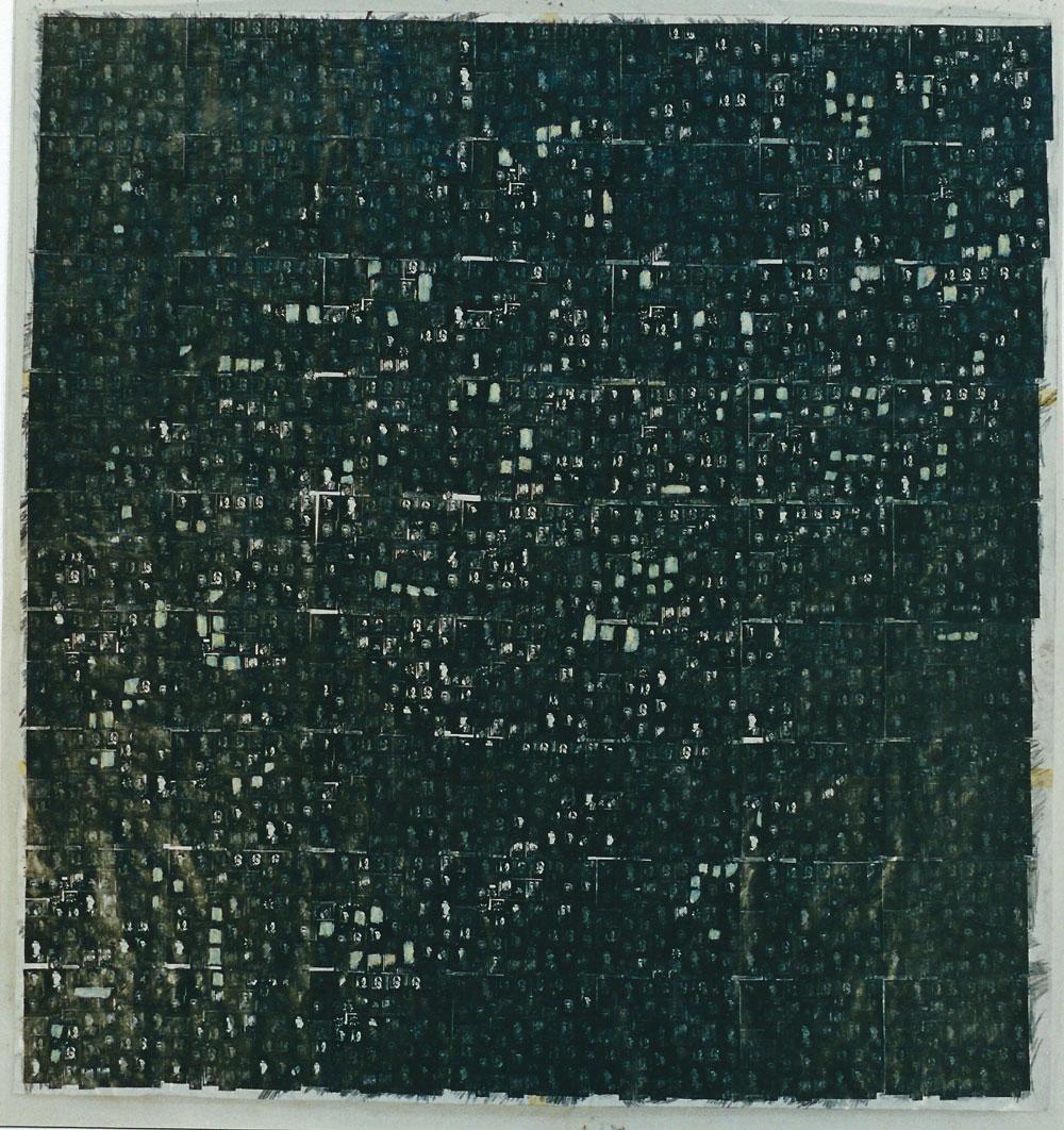 """""""Milchstrasse"""", 165 x 165 cm, Mischtechnik auf Zeichenpapier, 1996"""