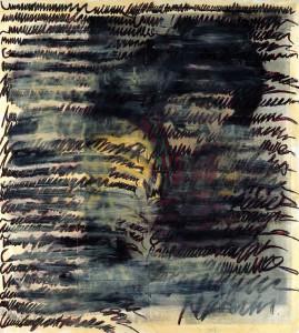 """Jutta Nase: """"Brief 1932/1996"""", Mischtechnik auf Zeichenkarton, 170 x 150 cm"""