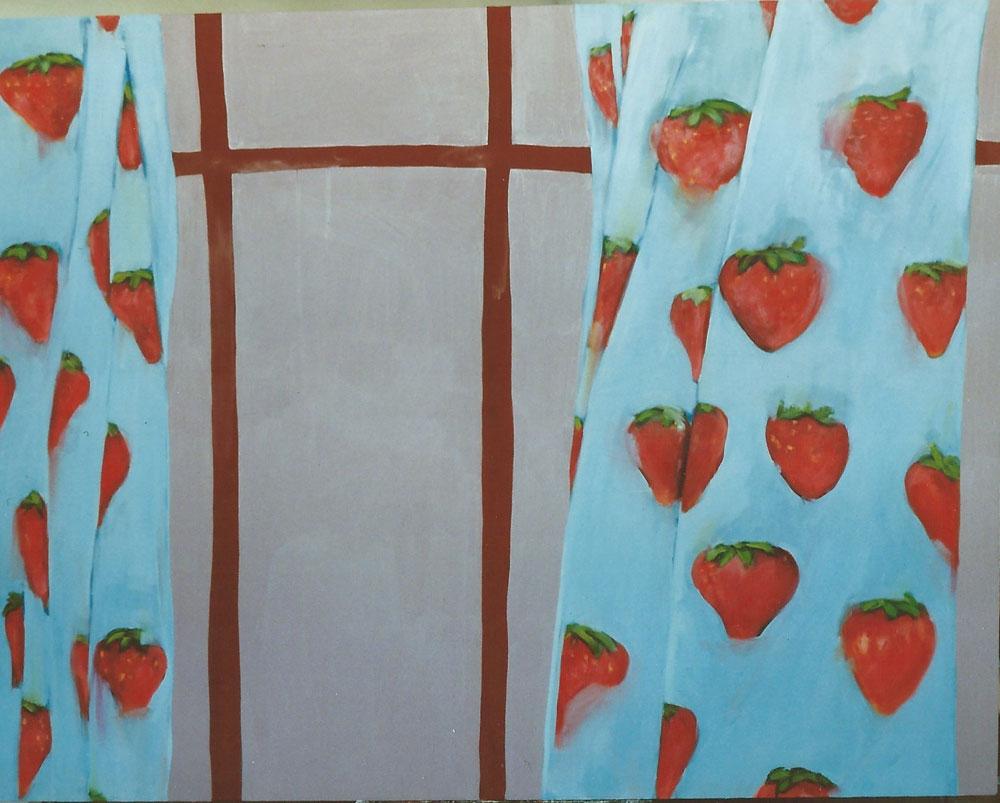 """""""Interieur I"""", 170 x 190 cm, Öl/Acryl/Nessel, 1992"""