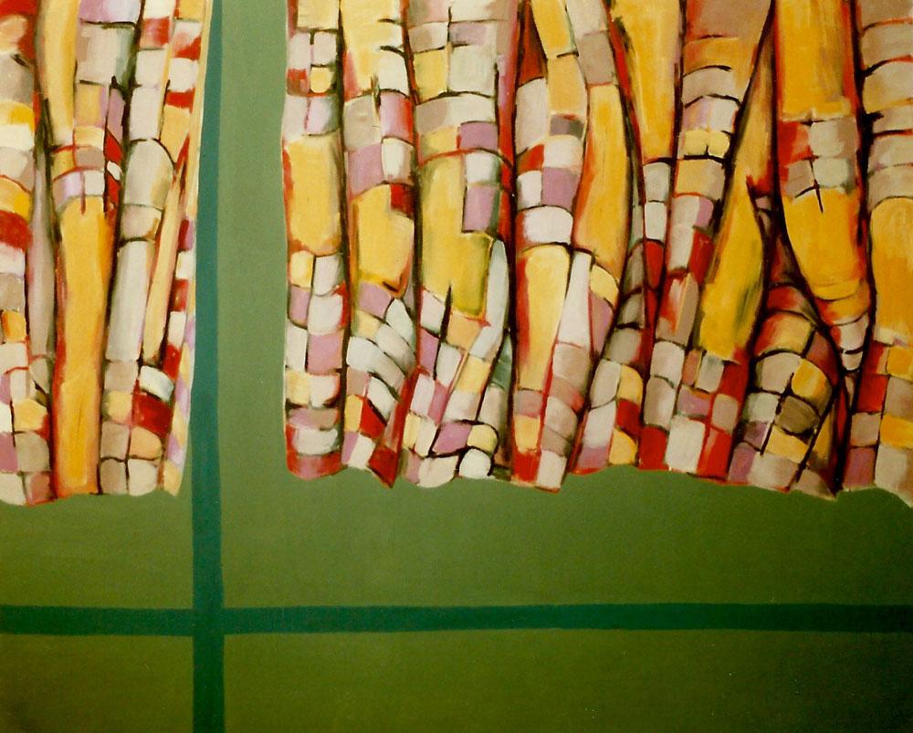 """""""Interieur V"""", 170 x 200 cm, Öl/Acryl/Nessel, 1993"""