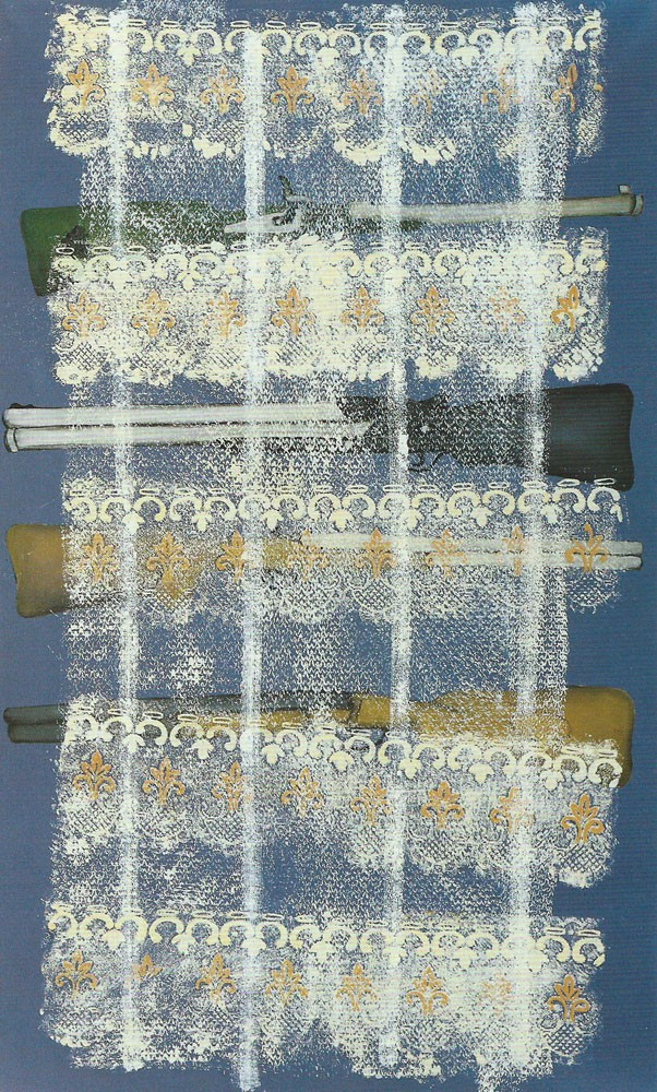 """Interieur II"", 200 x 120 cm, Öl/Acryl/Nessel, 1993"