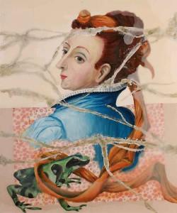 """Jutta Nase: """"Vorübergehende Erscheinung"""", 2010, Öl/Mischtechnik auf Leinwand, 110 x 90 cm"""