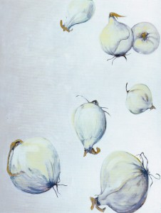 """""""Stillleben V"""", 230 x 175 cm, Öl/Acryl/Nessel, 1991"""