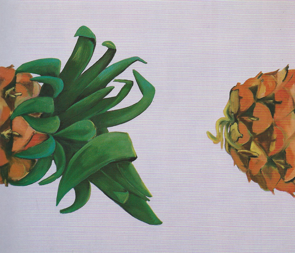 """Stillleben VIII"", 155 x 180 cm, Öl/Acryl/Nessel, 1992"